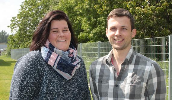 Unser RMA Team: Nadine Kunzelmann und Constantin Schmidt